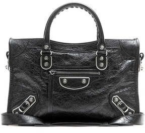 Balenciaga Classic Metallic Edge Small City leather tote