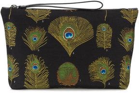 Alexander McQueen peacock weave pouch