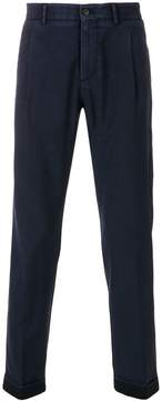 Berwich pleated cropped trousers