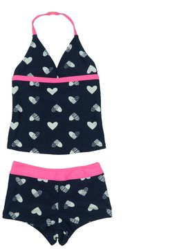 Osh Kosh Toddler Girl Heart Pattern Halter Tankini & Bottoms Swimsuit Set
