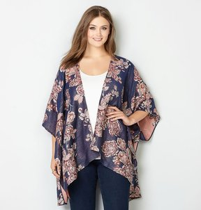 Avenue Shimmer Floral Ruana