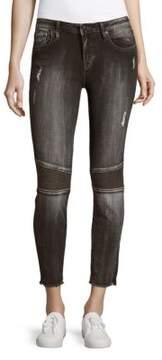 Vigoss Skinny Chelsea Moto Jeans