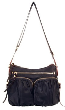 MZ Wallace 'Paige' Bedford Nylon Crossbody Bag - Black