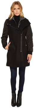 Andrew Marc Rowan 34 Pressed Wool Coat Women's Coat