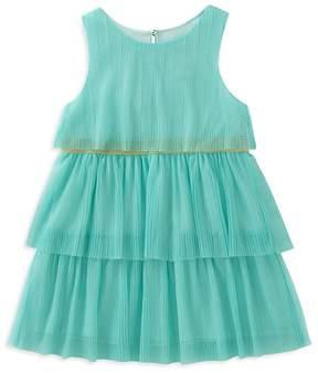 Kate Spade Girls' Tiered Mesh Shimmer Dress - Little Kid