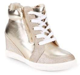 Stuart Weitzman Girl's Metallic High-Top Sneakers
