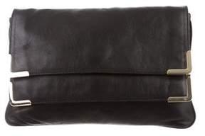 MICHAEL Michael Kors Double Flap Leather Clutch