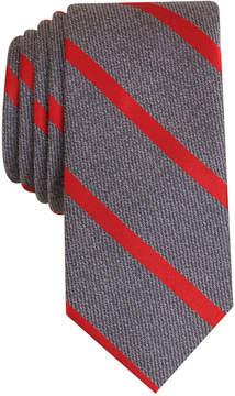 Bar III Men's Acker Stripe Skinny Tie, Created for Macy's