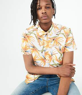 Aeropostale Bird-Of-Paradise Woven Shirt