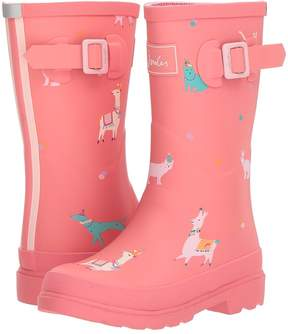 Joules Kids Printed Welly Rain Boot Girls Shoes