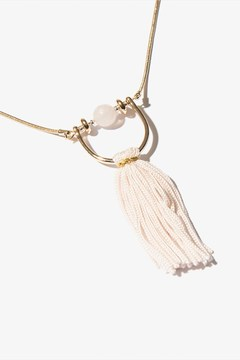 Dynamite Long Pendant Necklace With Fringe