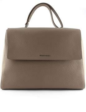 Orciani Taupe-tone Leather Sveva Large Bag.