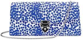 Aspinal of London X Beulah Blue Heart Clutch In Cobalt Blue