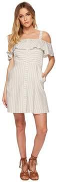 J.o.a. Button Down Cold Shoulder Dress Women's Dress