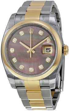 Rolex Datejust 36 Dark Mother of Pearl Dial Stainless Steel and 18K Yellow Gold Oyster Bracelet Automatic Unisex Watch