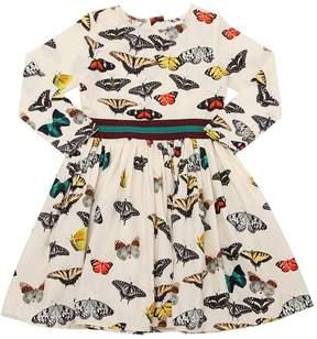 Molo Butterflies Print Cotton Poplin Dress