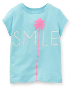 Carter's Baby Clothing Outfit Girls Smile Palm Tree Tee T-shirt Blue