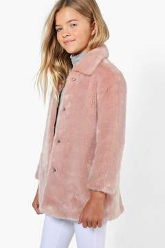 boohoo Girls Faux Fur Coat