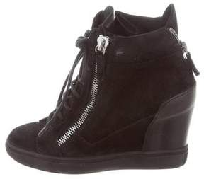Giuseppe Zanotti High-Top Wedge Sneakers