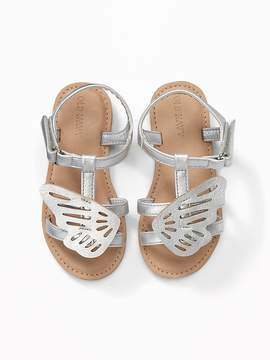 Old Navy Metallic Butterfly Sandals for Toddler Girls
