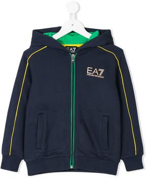 Emporio Armani Kids hooded zipped jacket