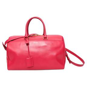 Saint Laurent Duffle leather bowling bag - PINK - STYLE