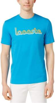 Lacoste Mens Short Sleeve Graphic T-Shirt
