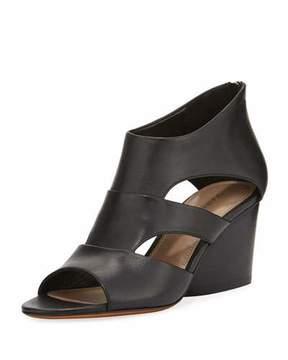 Donald J Pliner Jenkin Leather Demi-Wedge Sandal, Black