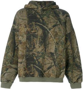 Yeezy Season 5 forest print oversized hoodie