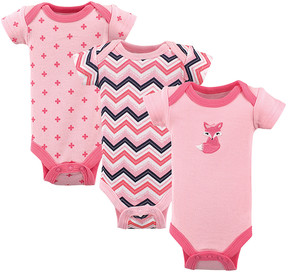 Luvable Friends Pink Bodysuit Set - Newborn