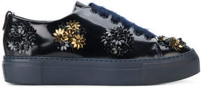 AGL flower embellished platform sneakers