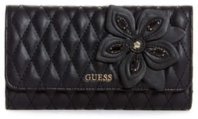 GUESS Sibyl Quilted Flower Wallet