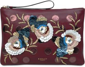 Radley London Embellished Ziptop Leather Pouch