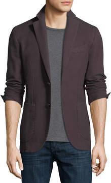 Neiman Marcus Herringbone Two-Button Blazer