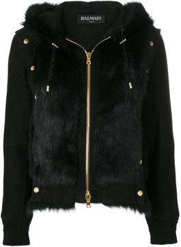 Balmain studded shearling jacket