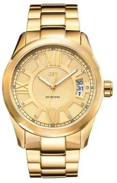 JBW Men's Bond 9-Diamond Goldtone Stainless Steel Bracelet Watch