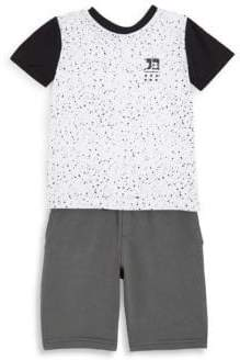 Joe's Jeans Little Boy's Two-Piece Graphic Cotton Tee and Shorts Set