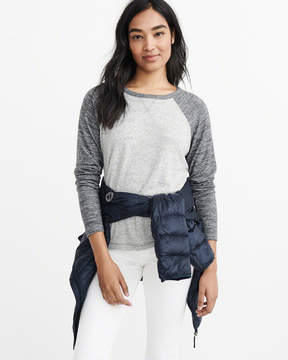 Abercrombie & Fitch Cozy Long-Sleeve Baseball Tee