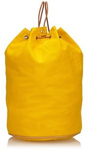 Hermes Pre-owned: Canvas Polochon Mimile. - YELLOW - STYLE