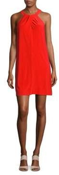 Cynthia Steffe Emerson-Pleat Halterneck Dress