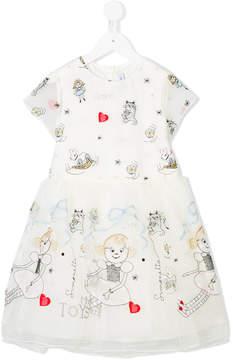 Simonetta embroidered tulle dress
