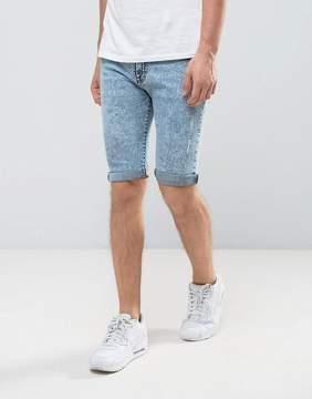 Loyalty And Faith Acid Wash Denim Shorts