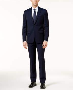 DKNY Men's Slim-Fit Blue Sheen Suit