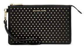 MICHAEL Michael Kors Dotted Leather Wristlet - BLACK - STYLE