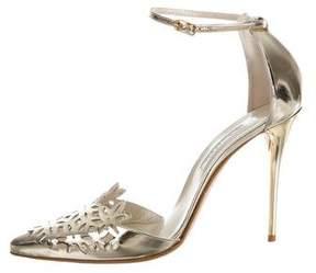 Oscar de la Renta Fezra Metallic Pointed-Toe Pumps