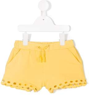 Chloé Kids embroidered detail shorts
