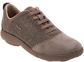 Geox Suede and Mesh Bungee Slip-On Shoes - Nebula