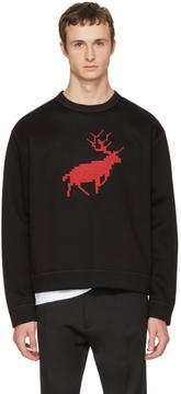 DSQUARED2 Black Reindeer Techno Sweatshirt