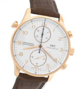 IWC Portuguese Rattrapante IW371204 18K Rose Gold 41mm Mens Watch