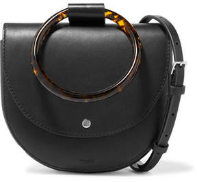 Theory Whitney Small Leather Shoulder Bag - Black